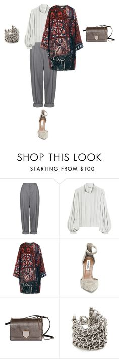 """Untitled #1143"" by elenekhurtsilava ❤ liked on Polyvore featuring Boutique, Haute Hippie, Chloé, Steve Madden, Jimmy Choo and Alexander Wang"