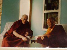 sua Santidade o Dalai Lama e Kalu Rinpoche