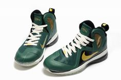 LeBron 9 P.S. Elite Black Green Gold Wonderful Life dc219fd13b