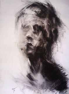 """Expressionism portraits"" : ""Expressionism portraits"" on Behance Urbane Kunst, Charcoal Art, Sad Art, Art Drawings Sketches, Horror Art, Surreal Art, Aesthetic Art, Art Inspo, Watercolor Art"