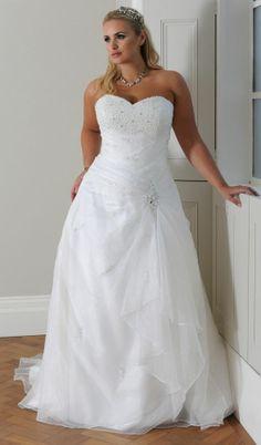 UK wedding dress dresses white ivory 9105 Plus  size 18 20 22 24 26 28