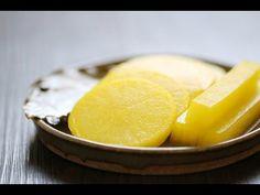 Danmuji (Korean Yellow Pickled Radish) - Ma Recipes   http://www.marecipes.com/danmuji/