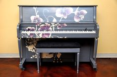 "Stunning - A ""Piano Revival Project"" by My First Piano artist Heather.. $2,695.00, via Etsy."