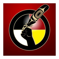 Idle No More Art: the four colours represent white (european) black (african) yellow (asian) and red (indian) peoples of american and the world. Idle No More's broad outreach Native American Pictures, Native American Symbols, Native Indian, Native Art, Red Indian, Native Style, American Indian Art, American Indians, American Women