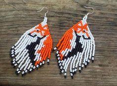 Collie dog Earrings Colly dog Earrings Native American