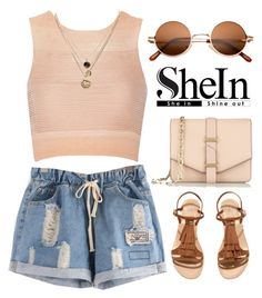 """""""SheIn"""" by hungry-unicorn ❤ liked on Polyvore featuring H&M, Victoria Beckham, Jonathan Simkhai and LowLuv"""