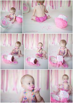 One Year Old Birthday Cake Smash Photography » Katie Blattel {Blog}