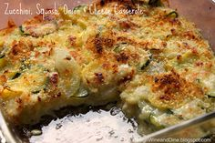 Zucchini, Squash, Onion and Cheese Casserole - A Low Carb Side Dish by Care's Kitchen, via Flickr