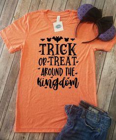 Trick Or Treat Around the Kingdom | Disney Halloween Shirt
