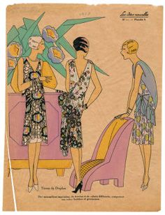 1927-1928, Plate 047. Fashion plates, 1700-1955. The Costume Institute Fashion Plates. The Metropolitan Museum of Art, New York. Gift of Woodman Thompson (b17520939) #fashion