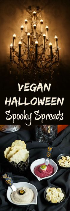 """Your ghostly guests will say """"I Love Boo!"""" when you whip up this Trio of Vegan Halloween Spooky Spreads."""