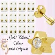 Wholesale Body Jewelry Gold Plated Star Stud With Cz Body Jewelry Wholesale Body Jewelry, Decorative Bells, Gold Jewelry, Place Cards, Plating, Place Card Holders, Star, Earrings, Ear Rings