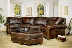 Leather Collection - Sofas, Sectionals, Chairs & Ottomans |Hill Country Interiors, San Antonio, TX
