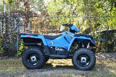 New 2017 Polaris Sportsman 450 H.O. Velocity Blue ATVs For Sale in Florida.