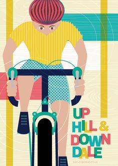 Up Hill  Down Dale   Cycling   Tour de France   Tour de Yorkshire   Bicycle   Illustration #tourdefrance