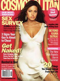 Cosmopolitan Magazine   Cover of Cosmopolitan USA with Angelina Jolie - Magazine - August 2003 ...