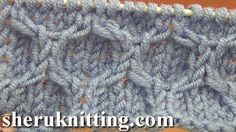 KNITTING HONEYCOMB STITCH PATTERN Tutorial 14.  http://sheruknitting.com/knitting-stitch/knitting-stitch-patterns/item/676-knitting-haneycomb-stitch-pattern.html This beautiful honeycomb stitch pattern worked on stockinette background and made of crossed stitches, such us C3F and C3F.