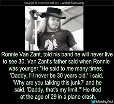 Ronnie Van Zant Quotes Today In 1977 3 Members Of Lynyrd Skynyrd Including Ronnie Van