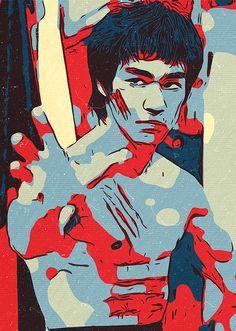 "Beautiful ""Bruce Lee Artwork"" metal poster created by Taoteching Our Displate metal prints will make your walls awesome. Bruce Lee Poster, Bruce Lee Art, Bruce Lee Martial Arts, Bruce Lee Photos, Pop Art Drawing, Mask Drawing, Trans Art, Legendary Dragons, Pop Art Wallpaper"