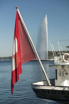 Our concierge's favorite way to explore Geneva? By boat on Lake Geneva, ringed by the Alps and surrounded by beauty in every direction. Geneva Hotel, Lake Geneva, Five Star Hotel, Lucerne, Golden Gate Bridge, Alps, A Boutique, Switzerland, Europe