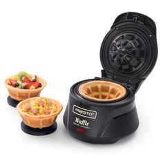 Make thick, fluffy and tender waffles using this Presto Belgian Waffle Bowl maker. Waffle Bowl Maker, Belgian Waffle Maker, Belgian Waffles, Waffle Cones, Cool Kitchen Gadgets, Kitchen Items, Cool Kitchens, Kitchen Dining, Cool Gadgets