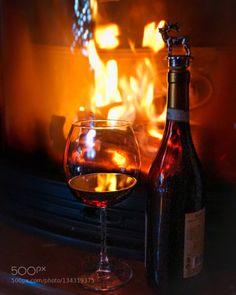by oksanavashchuk  IFTTT 500px fire glass light new year night red wine