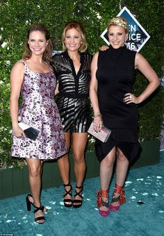 Andrea Barber, Candace Cameron-Bure & Jodie Sweetin from Teen Choice Awards 2016 Red Carpet Arrivals The Fuller House crew takes the red carpet. Candace is in a J. Mendel romper and Andrea is in Cynthia Rowley. Hottest Female Celebrities, Celebs, Teen Choice Awards 2016, Awards 2017, Candice Cameron Bure, Stephanie Tanner, Fuller House, Dress Patterns, Celebrity Style