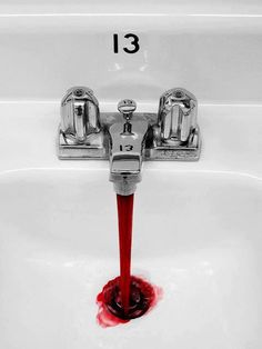 This. This has been a recurring nightmare since childhood. Blood from the tap or shower head. Yikes.