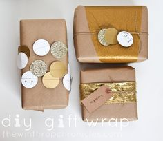 diy gift wrap @ The Winthrop Chronicles