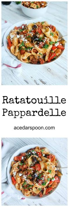 ratatouille papardelle pasta