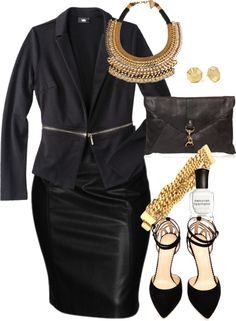 Black and Gold - Plus Size #plus #size
