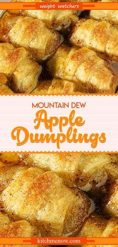 Pin on Weight Watchers Love Apple Dumplings With Mountain Dew Recipe, Apple Pie Dumplings, Easy Pumpkin Pie, Pumpkin Pie Recipes, Fish Recipes, Beef Recipes, Cooking Recipes, Uk Recipes, Salad Recipes