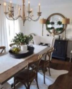 Cool 48 Gorgeous Farmhouse Dining Room Design Ideas. More At  Https://decoratrend