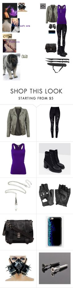 """""""Project K OC"""" by shiftingphoenix ❤ liked on Polyvore featuring WithChic, Bozzolo, Zara, Charlotte Russe, Proenza Schouler and Trend Cool"""