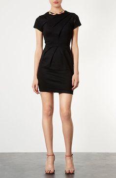 Our new favorite LBD: Topshop Sculpted Pleat Pencil Dress