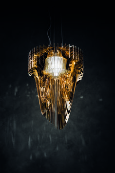 KAGADATO selection. The best in the world. Industrial lighting design. **************************************Aria Gold, design by Zaha Hadid