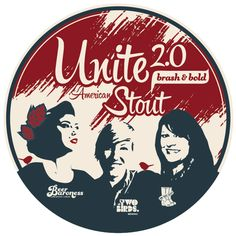 Three women, three countries, one beer.  Ava Wilson from New Zealand, Jayne Lewis from Australia and Denise Ratfield from America brewed Unite 2.0 American Stout in Christchurch NZ on 19 August 2014.