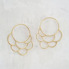 Cumulus Hoops in 18k Vermeil $160