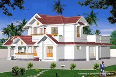 Tropical Minimalist Home Design : Kitchen Cabinet Design Interior . Model House Plan, Dream House Plans, Dream Houses, Building Design, Building A House, Modern Tropical House, Country Home Exteriors, Indian House Plans, Decoration