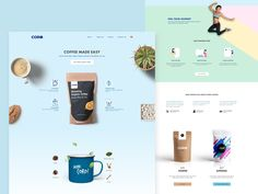 Landing Page For Healthy Coffee Box Subscriptions by Caesar Aldhela for Hellonemo on Dribbble Landing Page Inspiration, Website Design Inspiration, Coffee Websites, Food Web Design, Template Web, Web Design Examples, Coffee Box, Page Web, Coffee Subscription