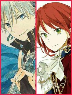 Akagami no shirayukihimw / snow white with the red hair. Zen and Shirayuki