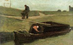 "Poster ""The Peat Boat, von Vincent van Gogh, Kunstdruck East Urban Home Größe: XL Art Van, Van Gogh Art, Vincent Van Gogh Pinturas, Vincent Willem Van Gogh, Framed Art Prints, Painting Prints, Canvas Art, Canvas Prints, Watercolor On Wood"