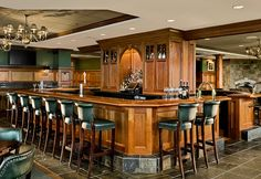 The bar at the renovated Wentworth Country Club