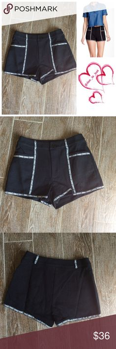 """25% OFF BUNDLES Aztec Patterned Shorts S,M,L A partially elasticized waist offers easy comfort on an Aztec-patterned jacquard shorts with box pockets and eyelash trim. - Back elasticized waist - Exposed side zip closure - 2 front box pockets - Approx. 9"""" rise, 2.5"""" inseam Fiber Content: 70% polyester, 30% cotton Care: Hand wash cold.  New without tags. Paper Crane Shorts"""