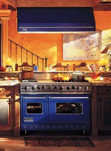 Black and White kitchen, crystal chandelier, viking appliances ...