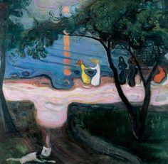 """Edvard Munch, """"Dance on the Shore"""", 1900-02"""