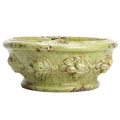 VIETRI - 'Rustic Garden' Collection, Pistachio - Centerpiece, 16x7"