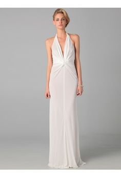 Sheath/Column V-neck Sleeveless Floor-length Chiffon Evening Dress #WX479