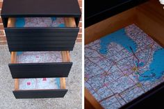 Map drawer liners!