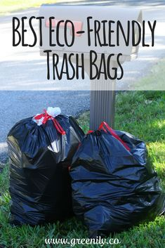 3 Eco Friendly Trash Bag Options - And My Top Pick! Green Living Tips, Natural Lifestyle, Trash Bag, Together We Can, Zero Waste, Reduce Waste, Go Green, Sustainable Living, Sustainability
